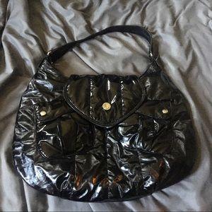 VIA SPIGA Metallic/Shiny Pleather hobo bag